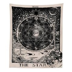 Letsroam Tarot Star Tapestry Wall Tapestry Wall Hanging Psychedelic Tapestry Celestial Tapestry Medieval Astrology Decor Wall Tapestry for Bedroom Living Room College Dorm Room Mandalas Painting, Mandalas Drawing, Psychedelic Tapestry, Mandala Tapestry, Sun And Moon Tapestry, Tapestry Beach, Tapestry Bedroom, Tapestry Wall Hanging, Wall Hangings