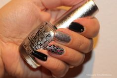 Black, silver and panther nails Hanna's PowderRoom Blog