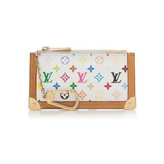 0f148a733ad7 Pre-Owned Louis Vuitton Monogram Multicolore Key Pouch ( 175) ❤ liked on  Polyvore featuring bags