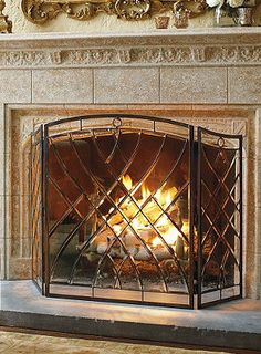 1000 images about Fireplace Screens & Covers on Pinterest