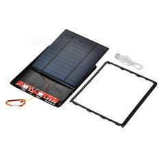 5V USB Output Li-Polymer Battery Solar Power Bank DIY Kit - Black