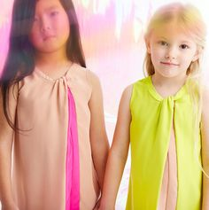 Anne Kurris spring 2014 neon flash colour girls dresses