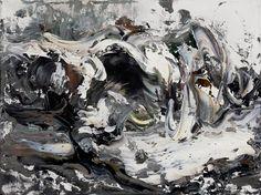 Maggi Hambling (British, b. Sudbury, Suffolk, UK) - Wave Crashing, 2007 Paintings: Oil on Canvas Maggi Hambling, A Level Art, Gcse Art, Contemporary Paintings, Artist At Work, Art School, Oil On Canvas, Abstract Art, Sculptures