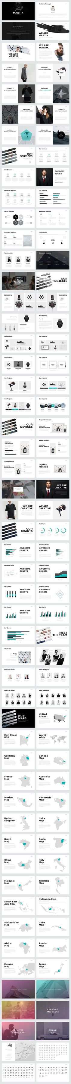 Martik PowerPoint Template: presentation design with a minimal, yet gorgeous layout