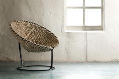 Ausgefallener Stuhl, Femme Chair von Rik ten Velden - aus einem Seil geknotete bei InteriorPark.