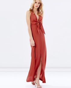 Buy Misha Tie-Front Maxi Dress by Atmos&Here online at THE ICONIC. Free and fast delivery to Australia and New Zealand.