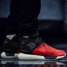 ADIDAS Y-3 QASA HIGH 'ROYAL RED/BLACK' via More SneakersMore sneakers here.