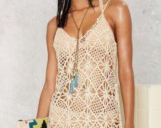 Crochet beach tunic PATTERN trendy tunic PATTERN detailed