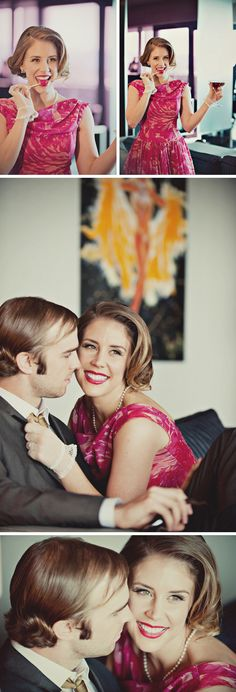 A Sixties Mad Men Inspired Engagement Shoot | Las Vegas