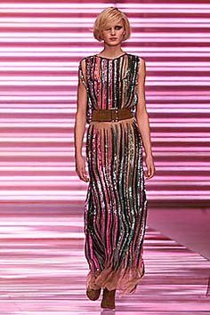 Versace Fall 2001 Ready-to-Wear Fashion Show - Yfke Sturm, Donatella Versace