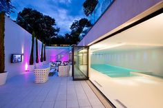 Indoor pool with outdoor living