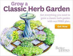 Better Homes & Gardens Online  Classic Herb Garden Plan--Free
