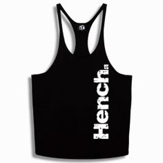 BODYBUILDING, BLACK, MUSCLE ,Y BACK, STRINGER VEST, HENCH DESIGN SIZES S - XXL