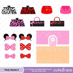 Minnie Mouse tutu Clipart  Minnie Mouse Birthday Clipart