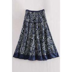 High Waisted Printed A Line Midi Skirt ❤ liked on Polyvore featuring skirts, high waisted skirts, calf length skirts, high waisted knee length skirt, a line skirt and high waisted a line skirt