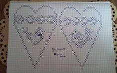 49 Trendy Ideas For Crochet Heart Blanket Cross Stitch Crochet Birds, Crochet Flowers, Crochet Baby, Crochet Heart Blanket, Cross Stitch Heart, Crochet For Beginners, Filet Crochet, Mobiles, Needlework
