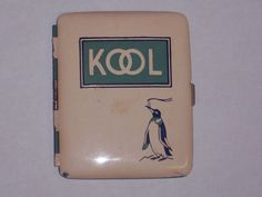 1940's KOOL Cigarettes Metal Advertising Cigarette Case Willie the from irememberthis on Ruby Lane