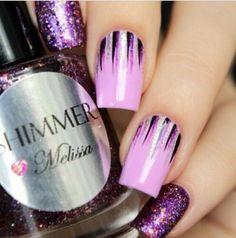 Purple Style nail art