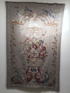 "Floral hanging tapestry measuring 72"" x 43"". Contents of stunning modern Chappaqua estate. Please refer to pictures for condition."