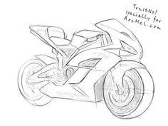 How to draw a motorbike step 6
