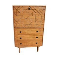 Graphica cabinet by Alice CHARPENTIER (Wings for Trees) for Les Expressives // #vintage #remastered #midcentury