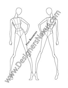 030- female fashion croquis template three quarter view -FREE download and more croquis in Illustrator & .png at designersnexus.com!