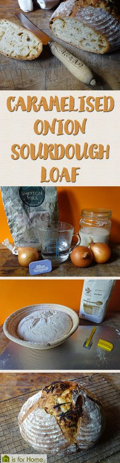 Home-made caramelised onion sourdough loaf   H is for Home   #recipe #sourdough #baking #realbread