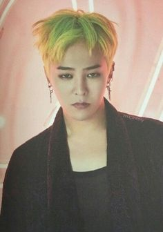 Image result for g dragon green hair
