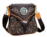 Montana West Coffee Concho Collection Messenger Bag