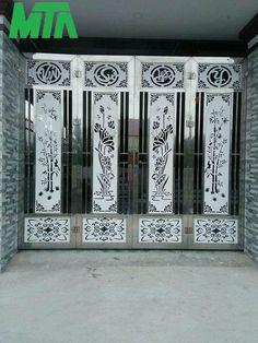 Máy Căt Plasma Cnc (@PlasmaCnc) | Twitter Home Gate Design, Steel Gate Design, Front Gate Design, Main Gate Design, Window Grill Design Modern, Balcony Grill Design, Door Design Images, House Design Photos, Frosted Glass Design