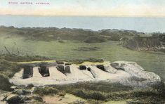An early photograph of the stone coffins on Heysham cliffs, Morecambe. Morecambe, Seaside Towns, North West, To Go, Photograph, England, Memories, Stone, Places