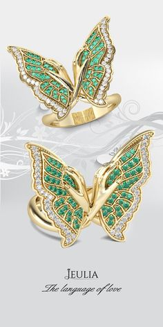 Jeulia offers premium quality jewelry at affordable price, shop now! Butterfly Ring, Butterfly Jewelry, Jewelry Rings, Jewlery, Rings Online, Stackable Rings, White Sapphire, Cocktail Rings, Bling