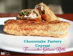 Monday Wk 6 - Copycat Cheesecake Factory salmon rolls. These are amazing!