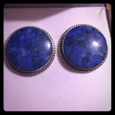 Vintage Sterling Silver Lapis Lazuli Post Earrings Exquisite lapis lazuli sterling silver post earrings with friction backs. The deep blue hue of the lapis gemstones is dazzling. Sublime in quality and design, these earrings are a magnificent accessory to any style. Vintage Jewelry Earrings