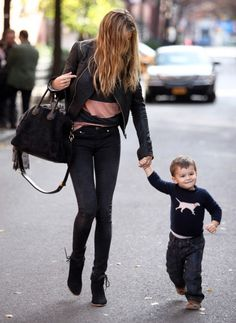 Little Benjamin hits the Big Apple: Gisele takes her son out for lunch in New…