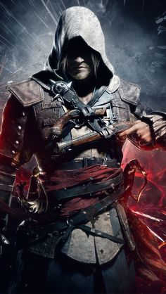 Easily the most ambitious Assassin's Creed game in years, Black Flag is an outstanding adventure by any standard. Assassins Creed Cosplay, Assasin Creed Unity, Assassins Creed Black Flag, Assassin's Creed Wallpaper, Ps Wallpaper, Ninja Wallpaper, Batman Wallpaper, White Wallpaper, Mobile Wallpaper