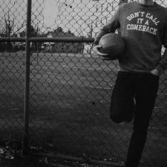 "Black and white ""don't call it a comeback"" crewneck sweatshirt basketball photo 