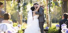 Bride and Groom Kiss - Pinehurst Wedding - Brian Mullins Photography - NC Wedding Planner - Orangerie Events