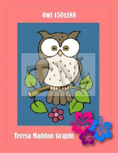 (4) Name: 'Crocheting : Owl on a branch 150x188