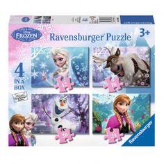 Disney Frozen Puzzel - Frozen, 4in1