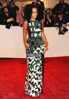 Solange, love her fashion choices.