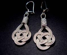 Love Knot 1000 K Hand Woven Earrings High by LUNAjewelrystudio, $150.00