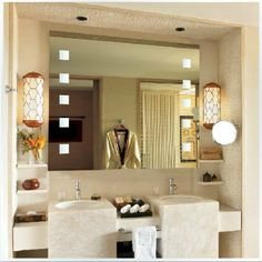 iluminação espelho banheiro maquiagem - Pesquisa Google Custom Framed Mirrors, Mirror With Led Lights, Luxury Master Bathrooms, Soft Towels, Beveled Mirror, Lighting, Mercury, Bathroom Ideas, Tumblr Rooms