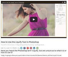 How to Use the Liquify Tool in Photoshop #photographers #photography #photoshop