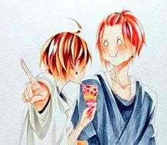 "Urata : ""Sakata-kun , are you listening?"" Sakata : Mm-hmm (Yess, I got the Ice cream Hopefully He don't notice it. Vocaloid, Kawaii, Comics, Anime, Sora, Twitter, Hobbies, Ice Cream, Memes"