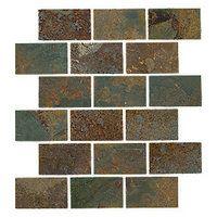 Copper Rust Amalfi Slate Wall and Floor Tile - 12 x 12 in - The Tile Shop Stone Backsplash, Stone Tiles, Kitchen Backsplash, Diy Pipe Shelves, Pipe Shelving, Blue Green Bathrooms, Earthy Bathroom, The Tile Shop, Slate Flooring