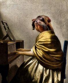 Sea Lion At The Harpsichord by SuddenJim