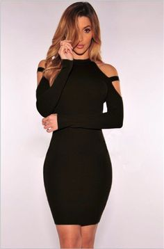 It offers many kinds of different colors in one sample pattern. It highlights with cold shoulder, scoop, long sleeves, solid and short length. It can not only highlight your perfect and slim figure but also can attract others¡¯ sights.