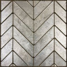 Ann Sacks Lucian Metallic Chevron Mosaic in Pewter or Burnished Bronze - possible cabinet top option Chevron Mirror, Metal Tile, Glass Tile, Ann Sacks Tiles, Stone, Stone Mosaic, Mosaic, Ann Sacks Tile Bathroom, Ann Sacks