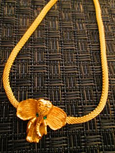 Golden Elephant Necklace // Made in Chicago // One of by shopJacie, $50.00